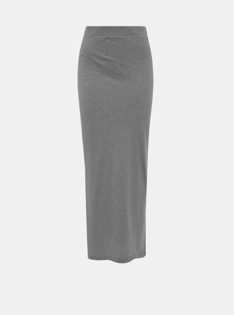 Šedá maxi sukňa Vero Moda