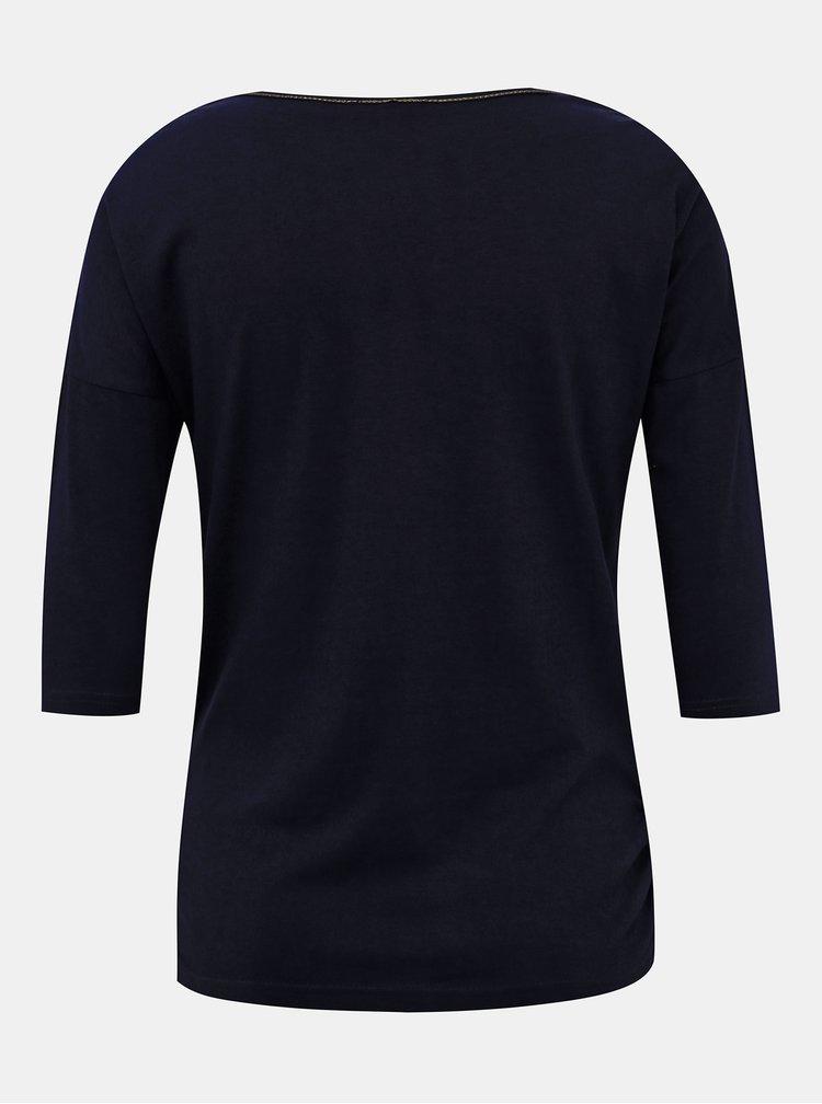 Tmavomodré dámske tričko Blue Seven