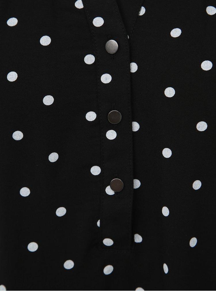 Dámska čierna blúzka s bodkami VERO MODA