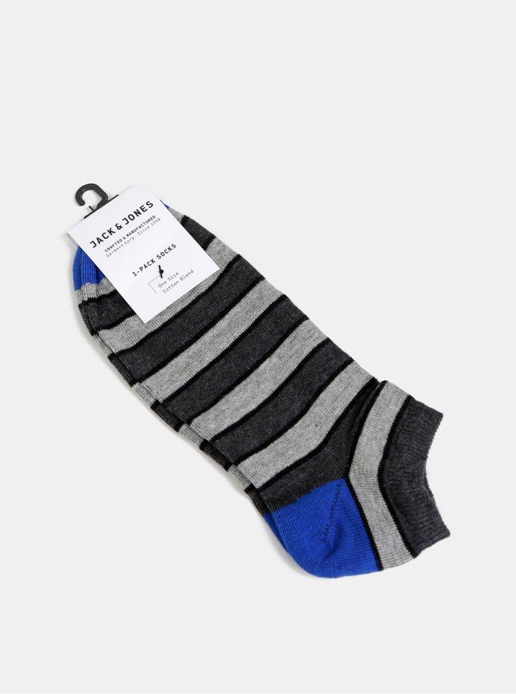 Modro-šedé pruhované ponožky Jack & Jones