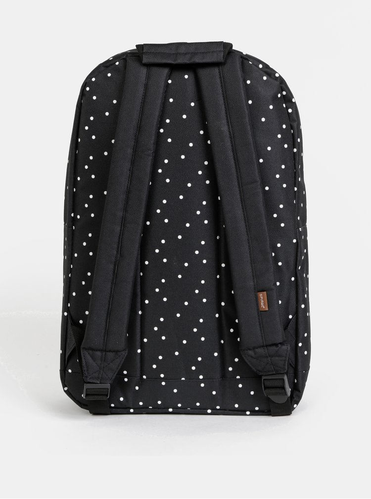 Černý dámský puntíkovaný batoh Spiral Og