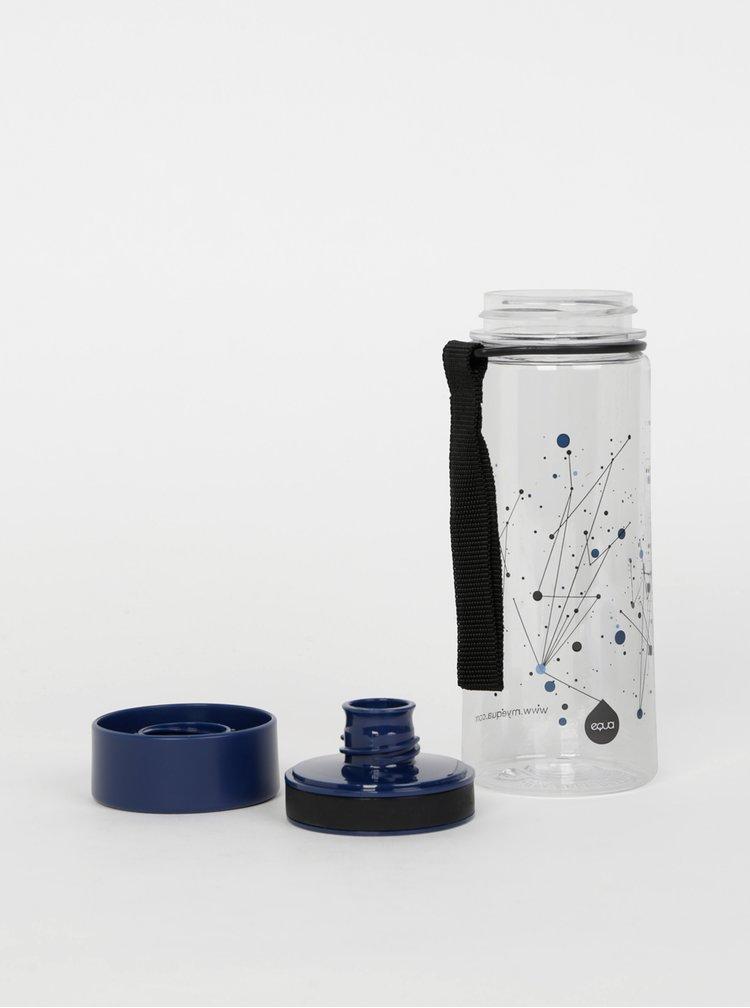 Plastová láhev s tmavě modrým víčkem EQUA 400 ml