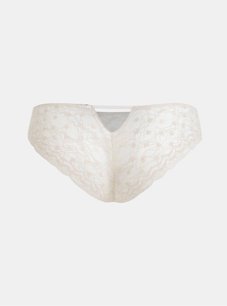 Krémové krajkové nohavičky ICÔNE Charlotte