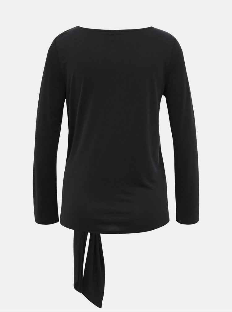 Čierne tričko s uzlom VILA Atetsy