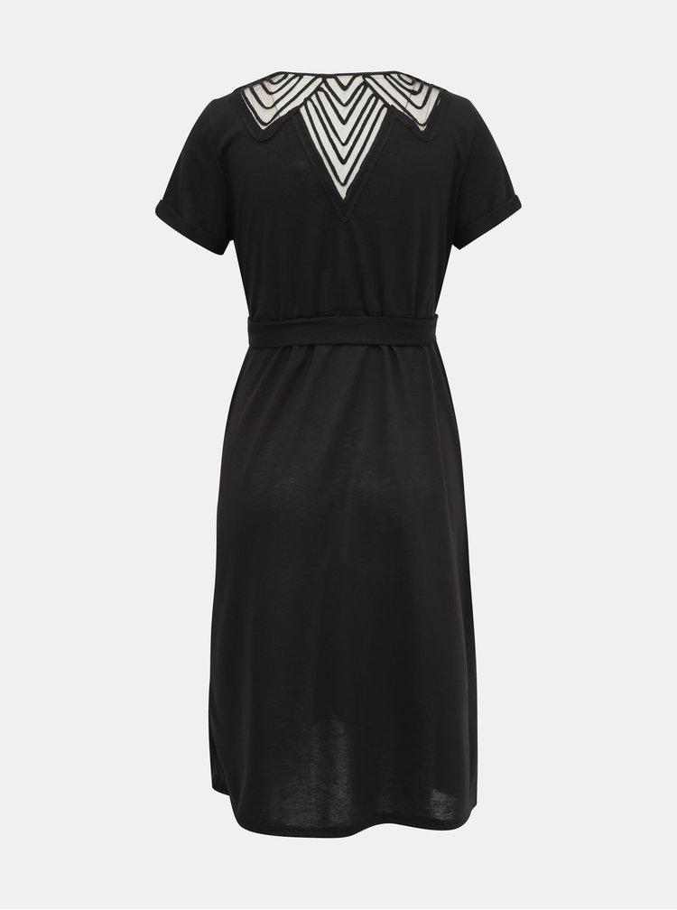Čierne dojčiace šaty Mama.licious Ura