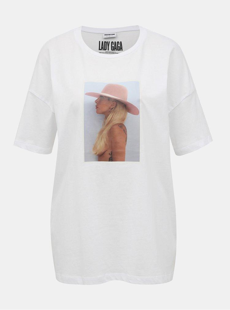 Bílé tričko Noisy May Lady Gaga