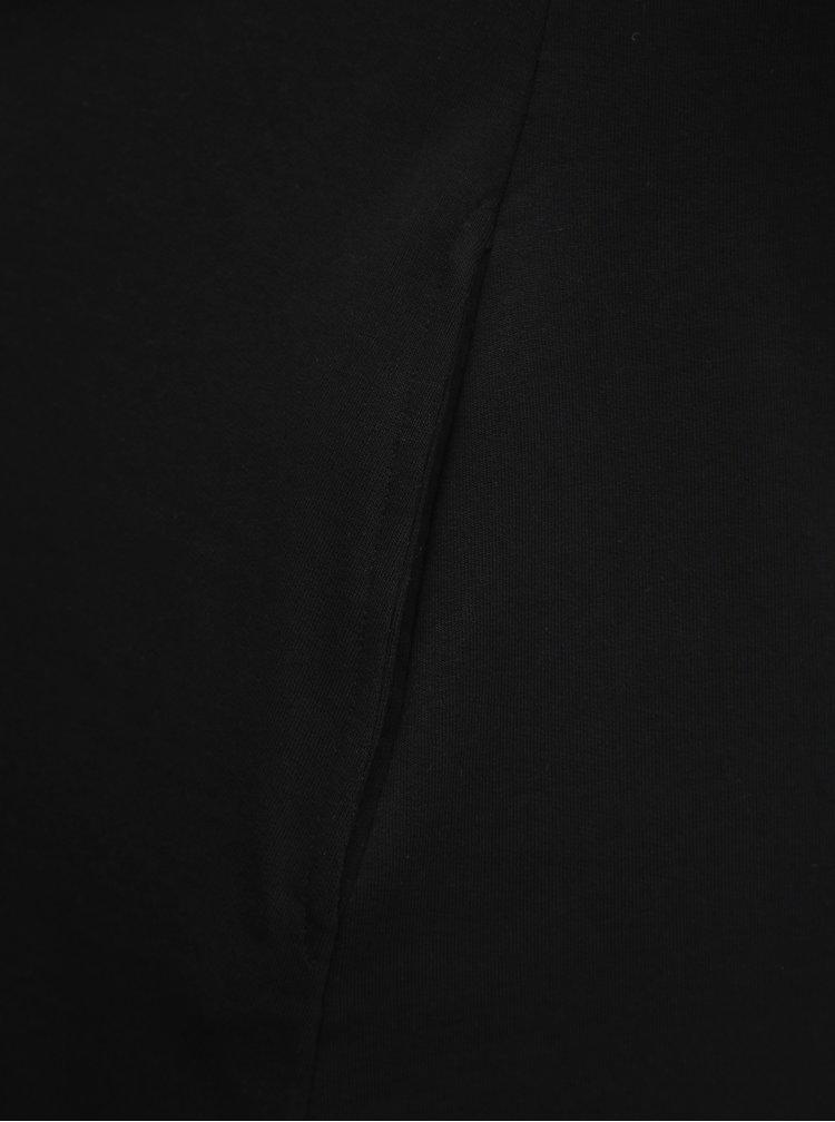 Čierne basic šaty Noisy May Luni