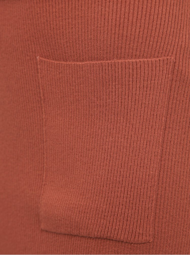 Cihlová svetrová sukně Noisy May Ship