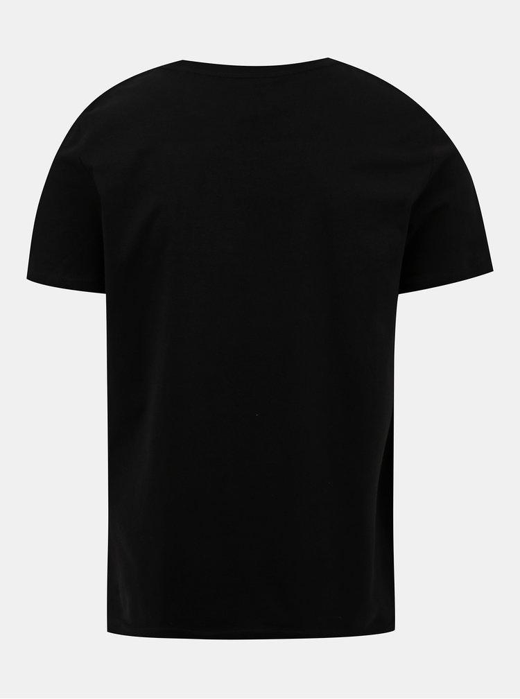 Černé tričko s potiskem ZOOT Original Jsem vekan
