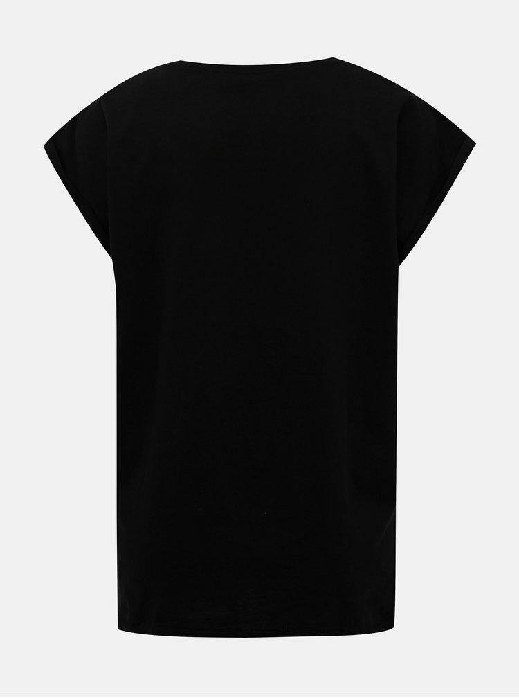 Čierne dámske tričko s potlačou ZOOT Original NOK