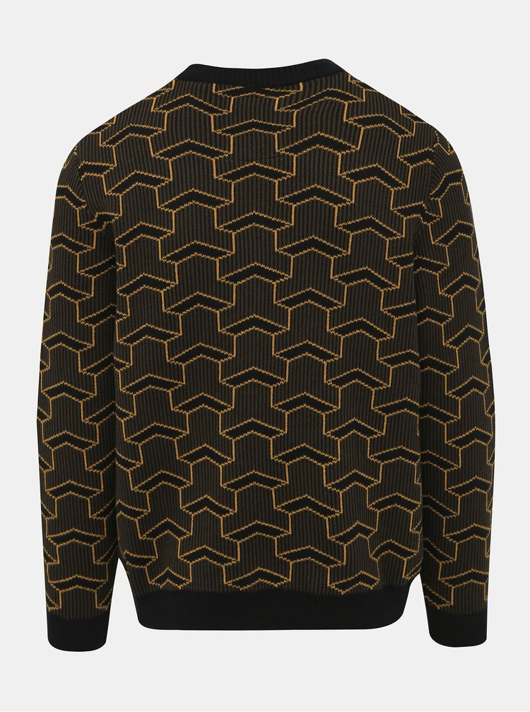 Hnedý vzorovaný sveter ONLY & SONS Past
