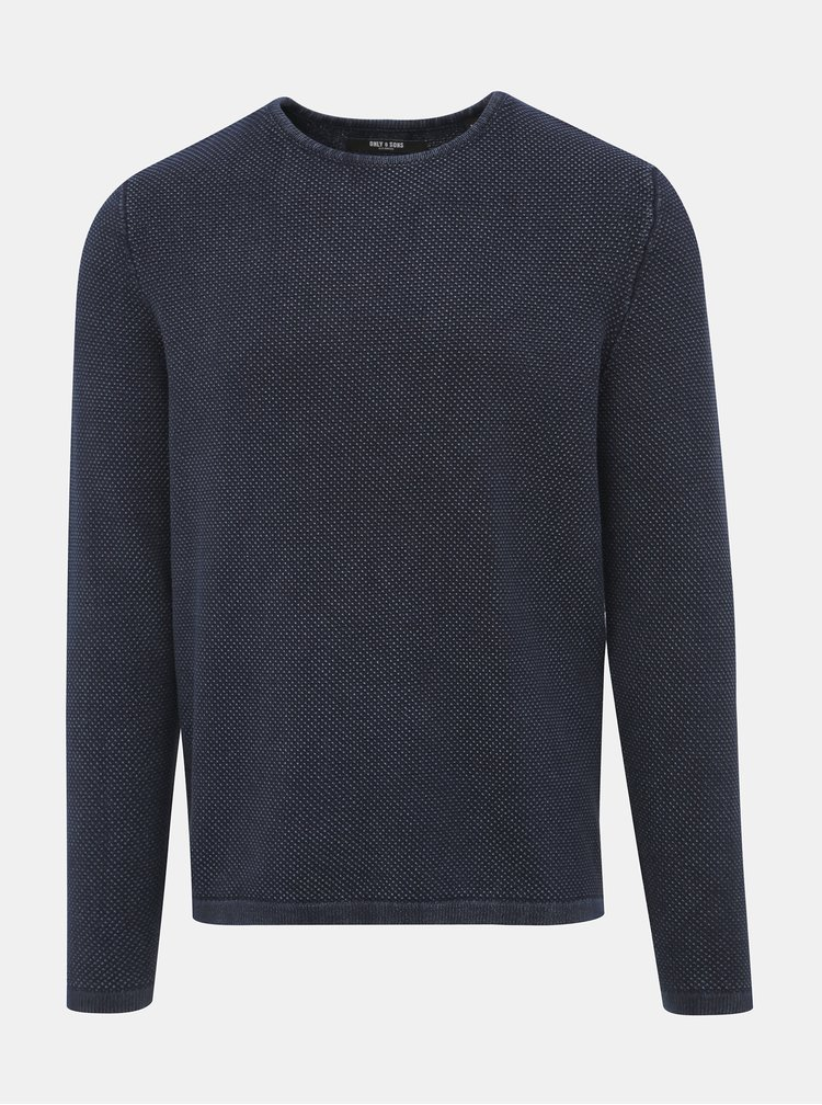 Tmavě modrý svetr ONLY & SONS Hugh