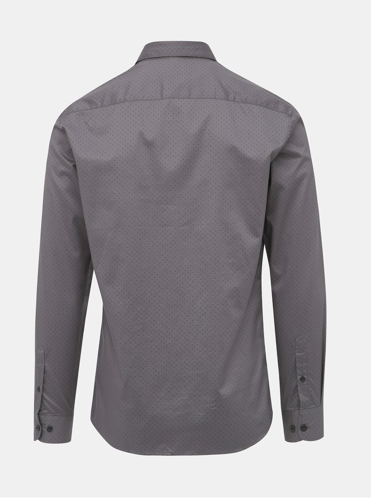 Šedá bodkovaná slim fit košeľa ONLY & SONS Alves