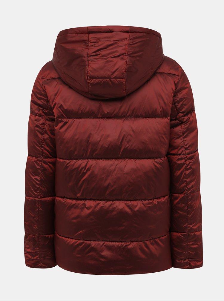 Vínová prešívaná zimná bunda ONLY Niaomi