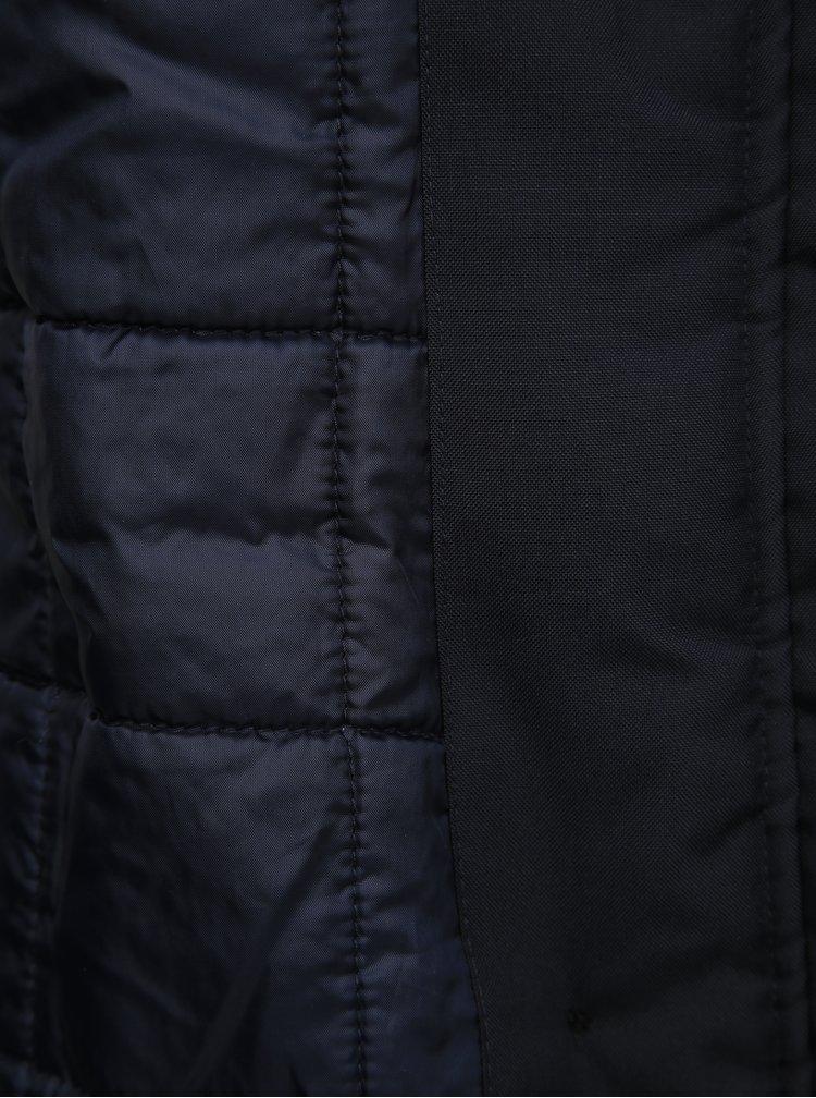 Tmavě modrá zimní parka ONLY Iris