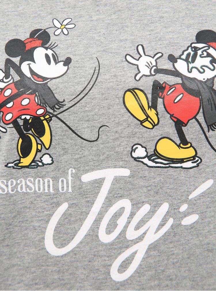 Šedé tričko s potiskem ONLY Disney Mickey Mouse