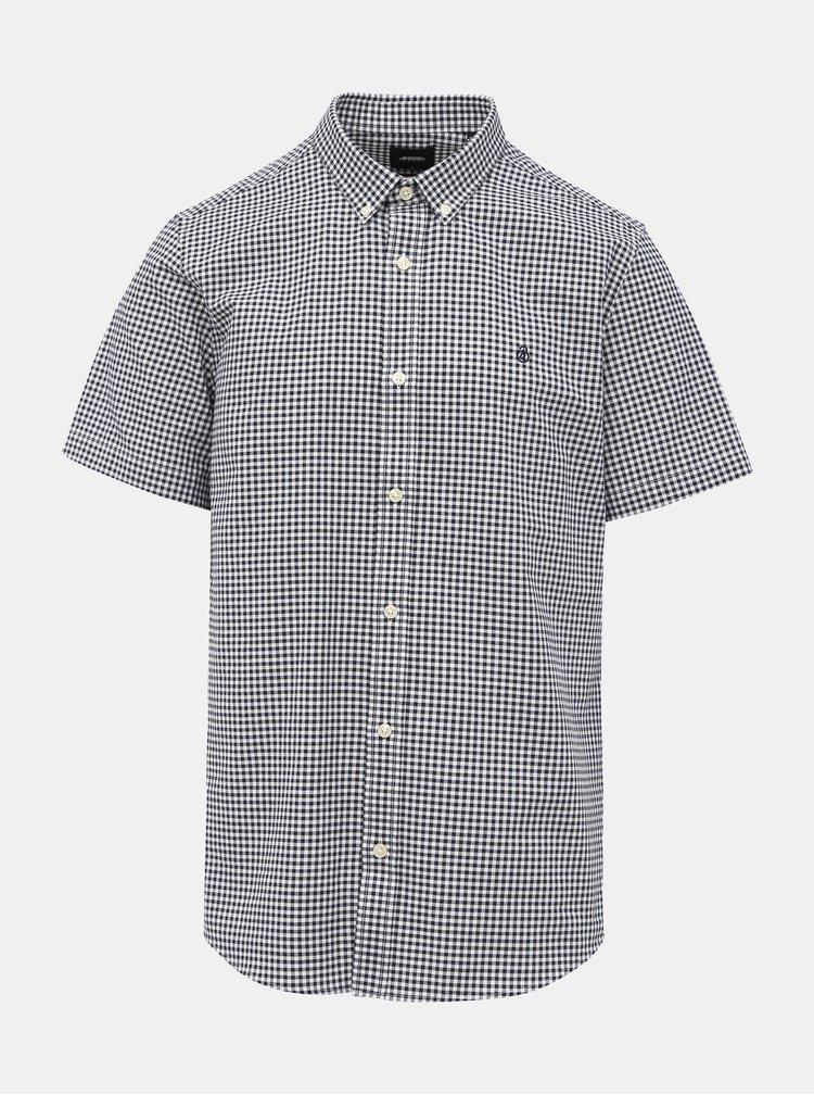 Bielo-modrá kockovaná slim fit košeľa Burton Menswear London Gingham