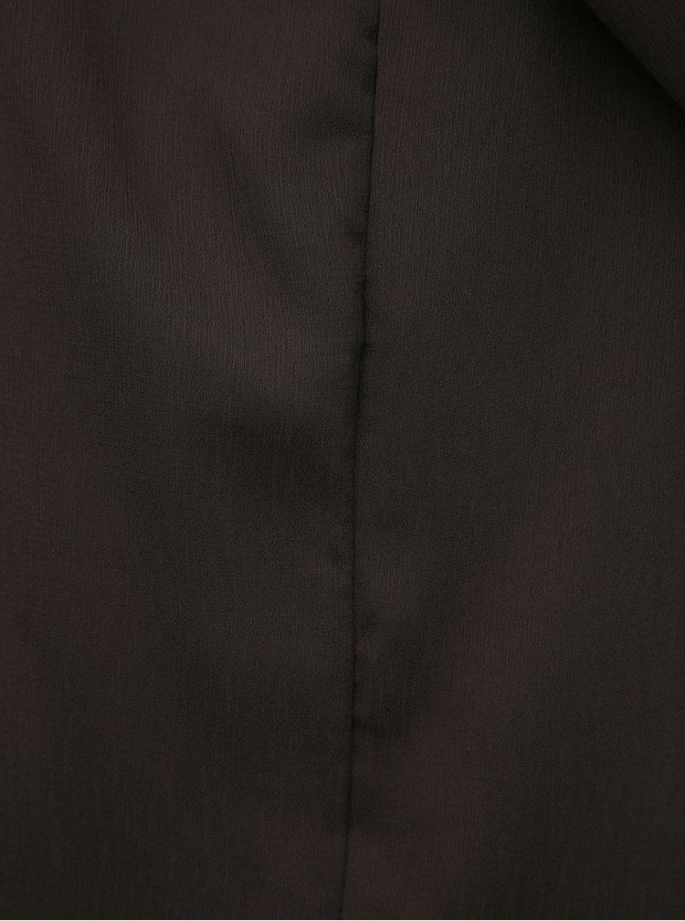 Tmavohnedá dlhá blúzka Jacqueline de Yong Shane