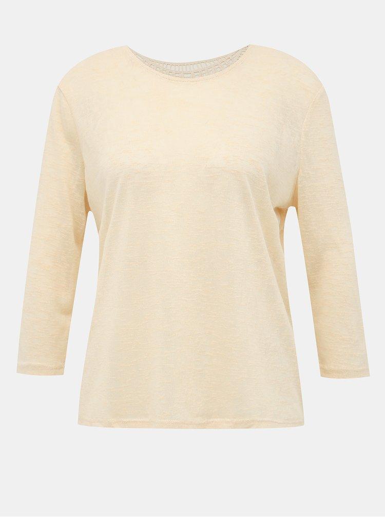 Krémové tričko s krajkou na chrbte Jacqueline de Yong Petra