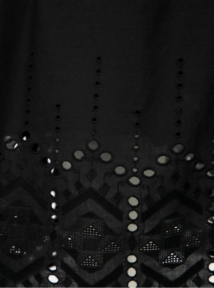 Černá sukně s madeirou Jacqueline de Yong Sweety