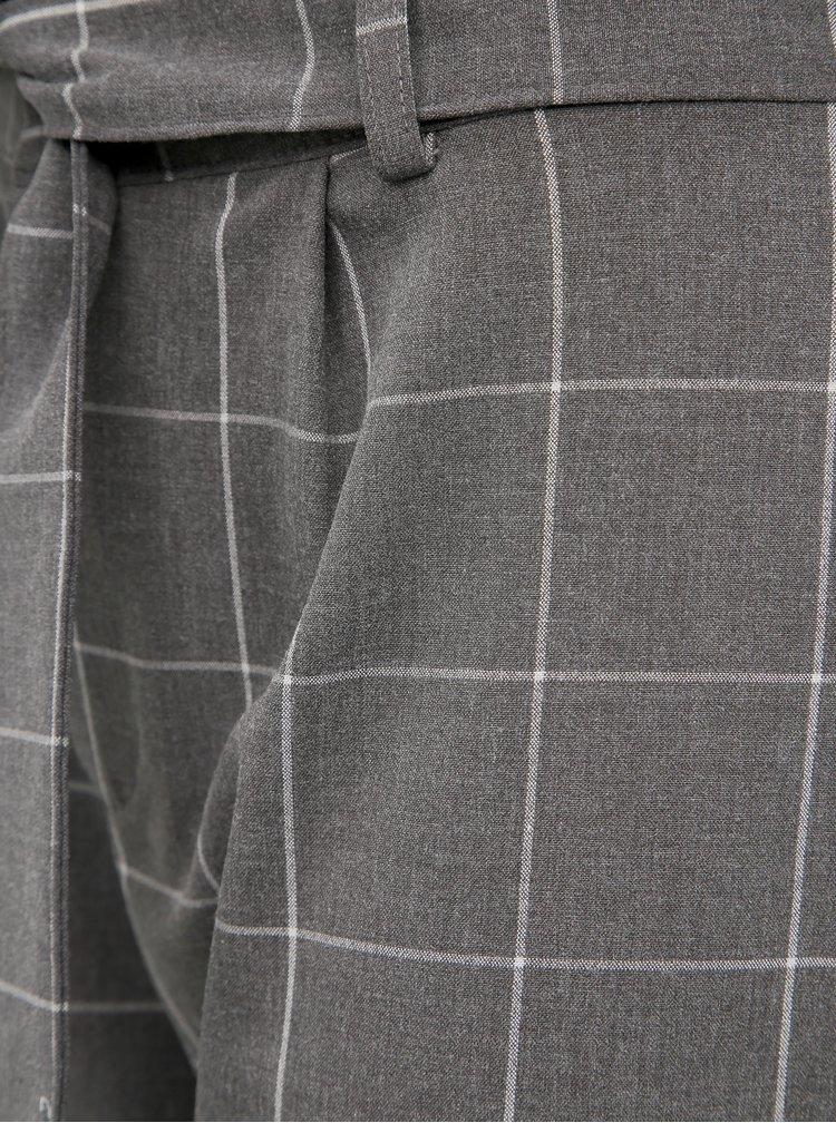 Šedé kostkované kalhoty Jacqueline de Yong Puca