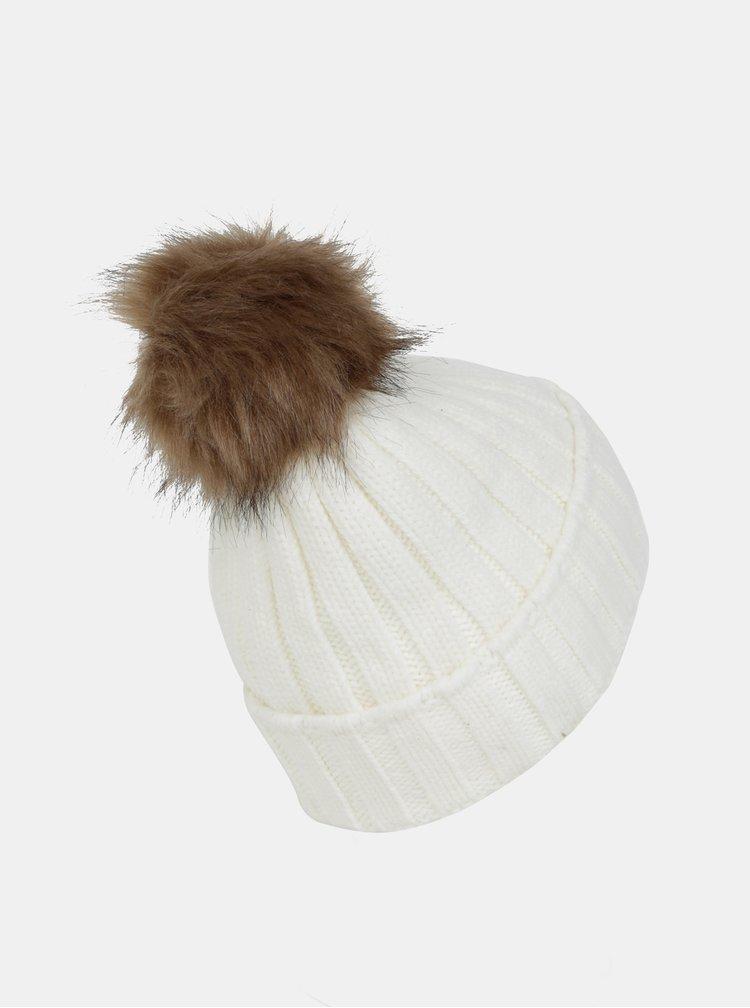 Bílá čepice s vyměnitelnými bambulemi Something Special