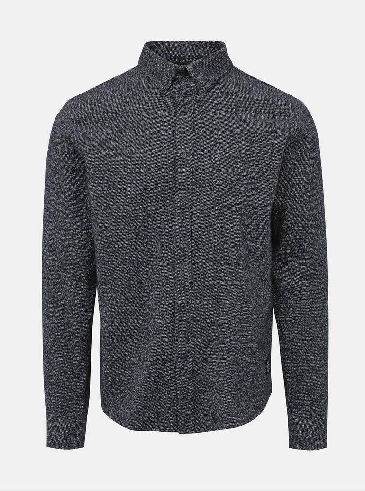 Tmavomodrá vzorovaná košeľa Shine Original