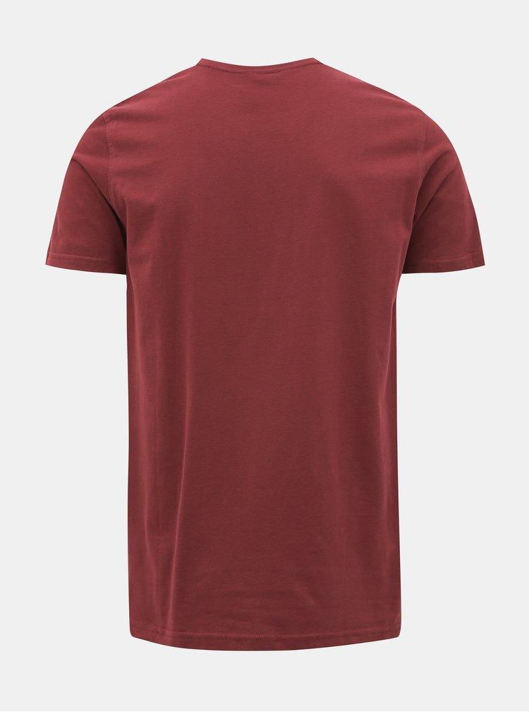 Vínové tričko s potiskem Shine Original