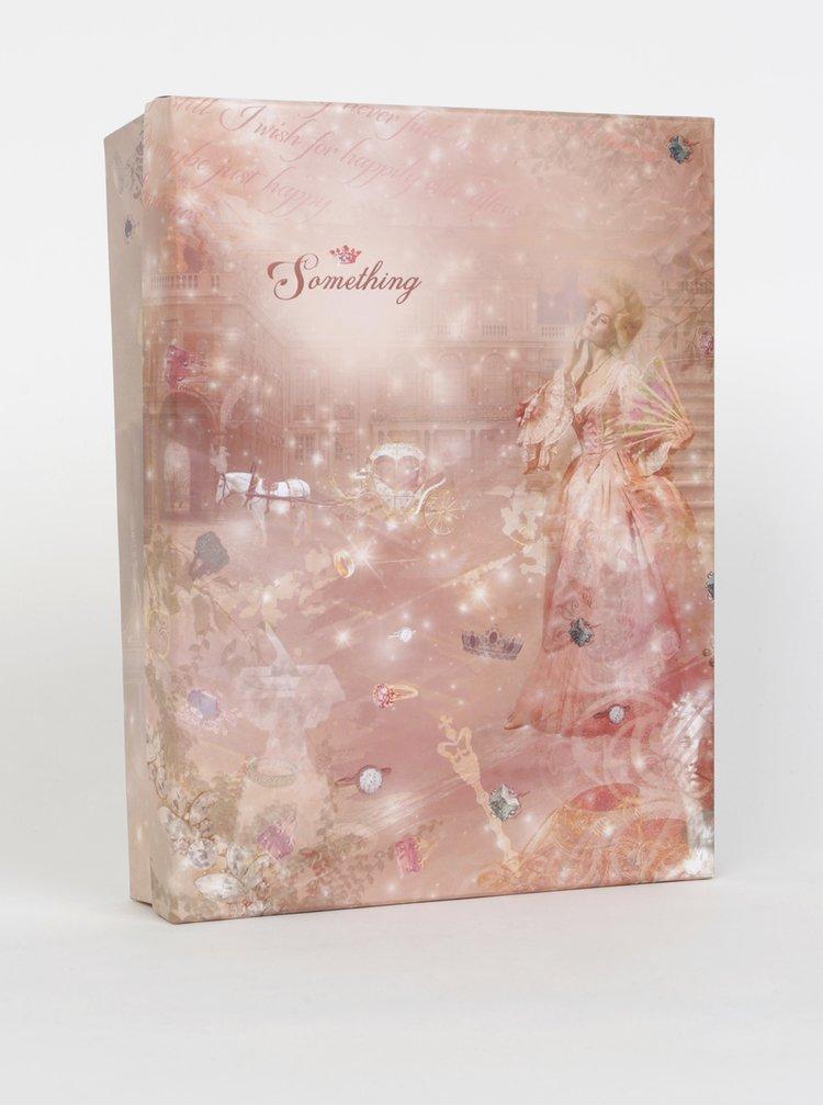 Světle růžová kostkovaná šála s kapsami Something Special