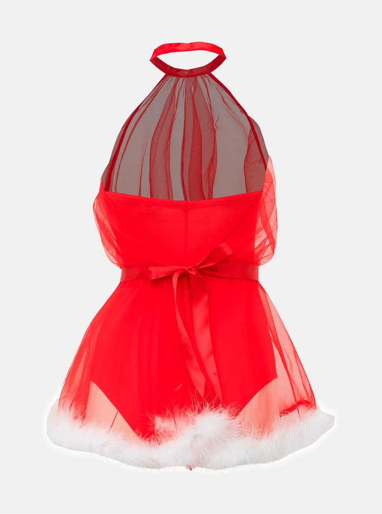 Červený vánoční kostým Obsessive Santastic