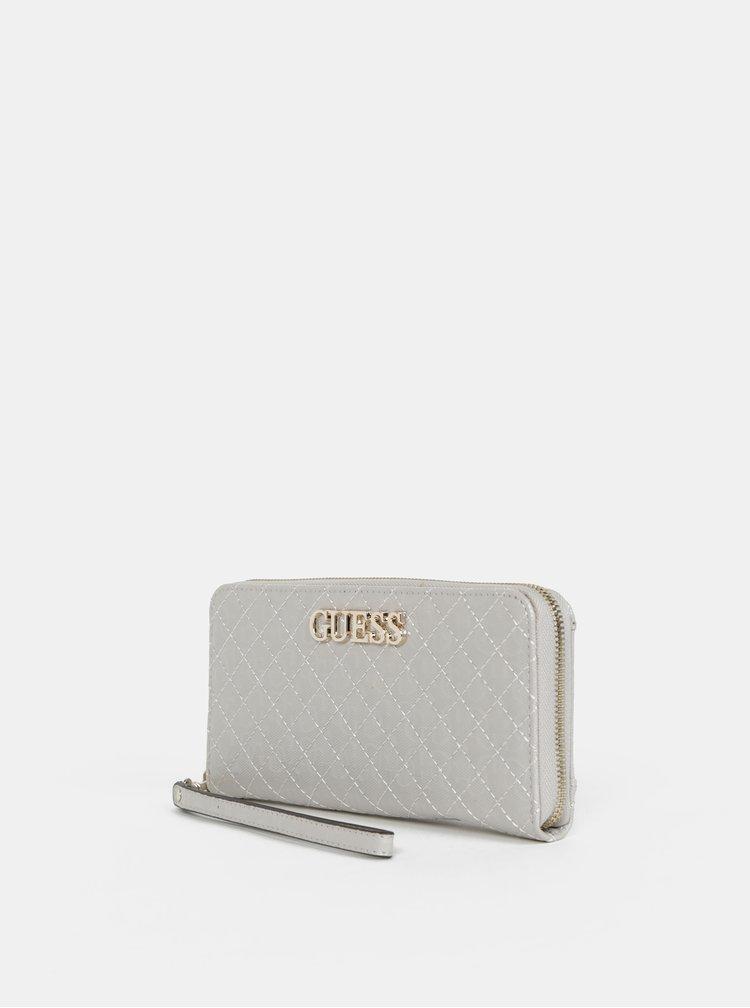 Světle šedá dámská vzorovaná peněženka Guess