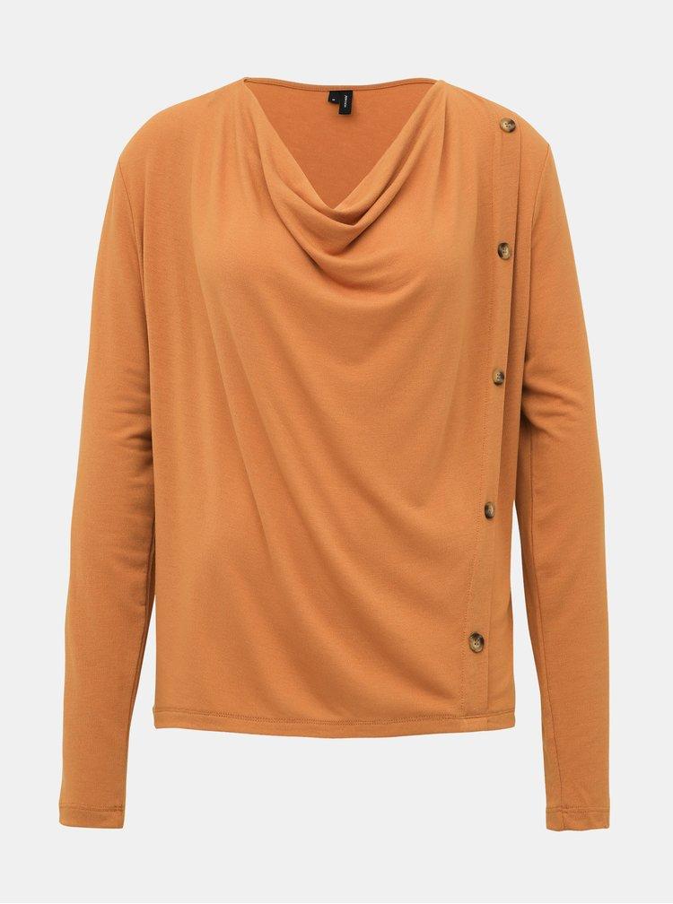 Hnedé tričko VERO MODA Firenze