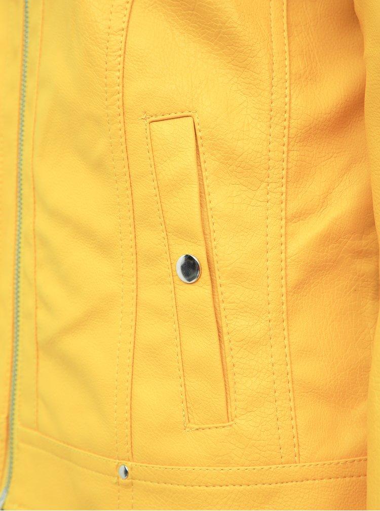 Žltá koženková bunda VERO MODA Sheena