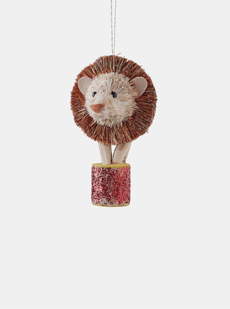 Hnědá ozdoba ve tvaru lva BUTLERS