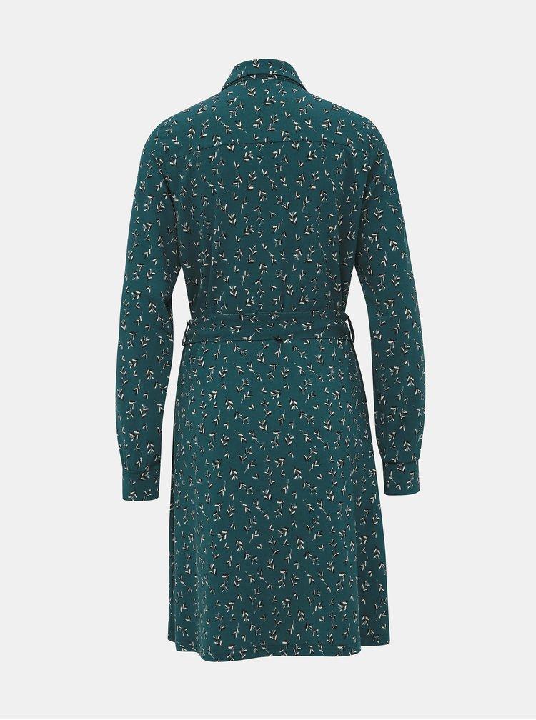 Zelené vzorované šaty VERO MODA Toka