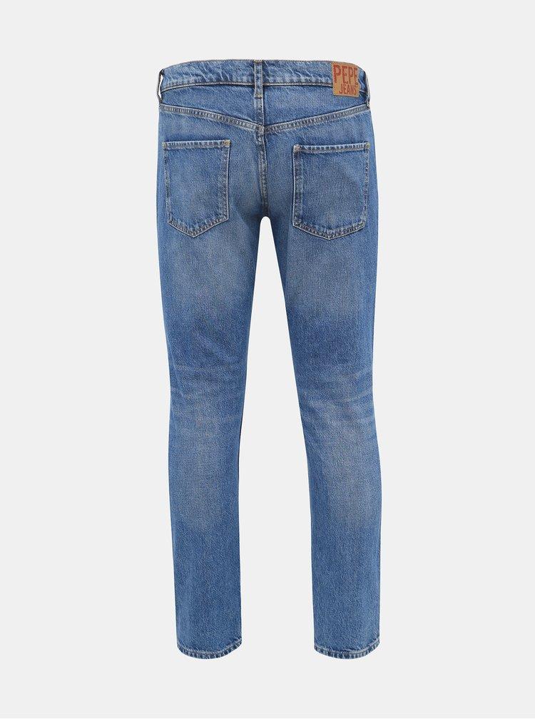Modré dámske straight fit rifle Pepe Jeans Mable