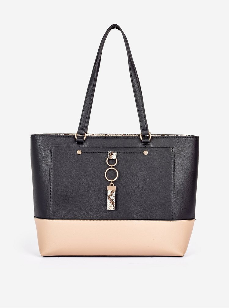 Béžovo-černá kabelka Dorothy Perkins