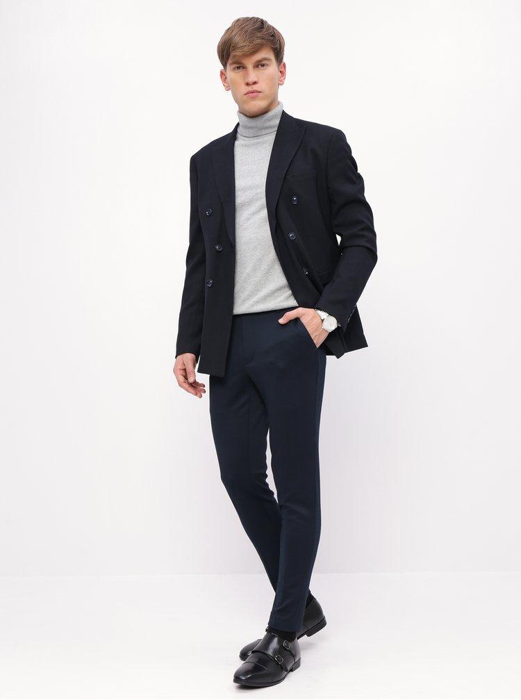 Tmavomodré oblekové nohavice ONLY & SONS  Selias