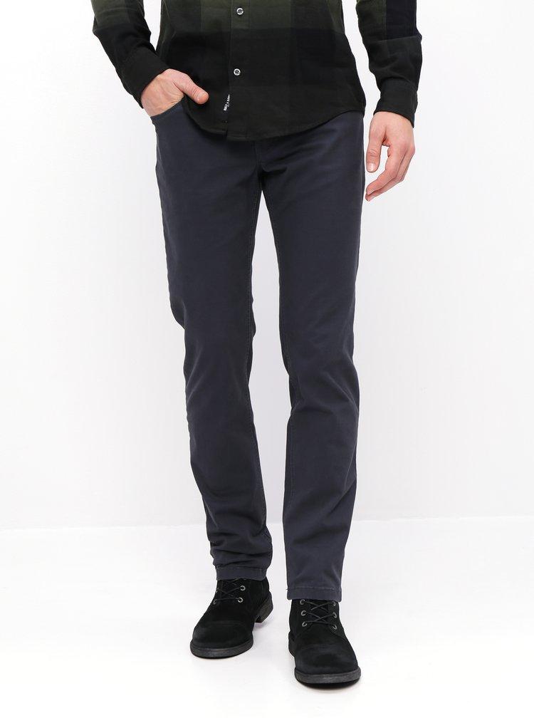 Tmavě šedé pánské regular fit kalhoty ZOOT Pietro