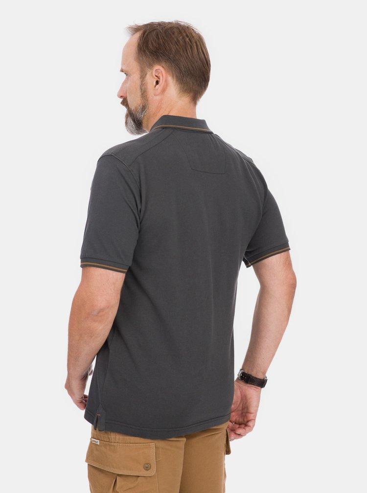 Tmavě šedé pánské polo tričko BUSHMAN Cabot