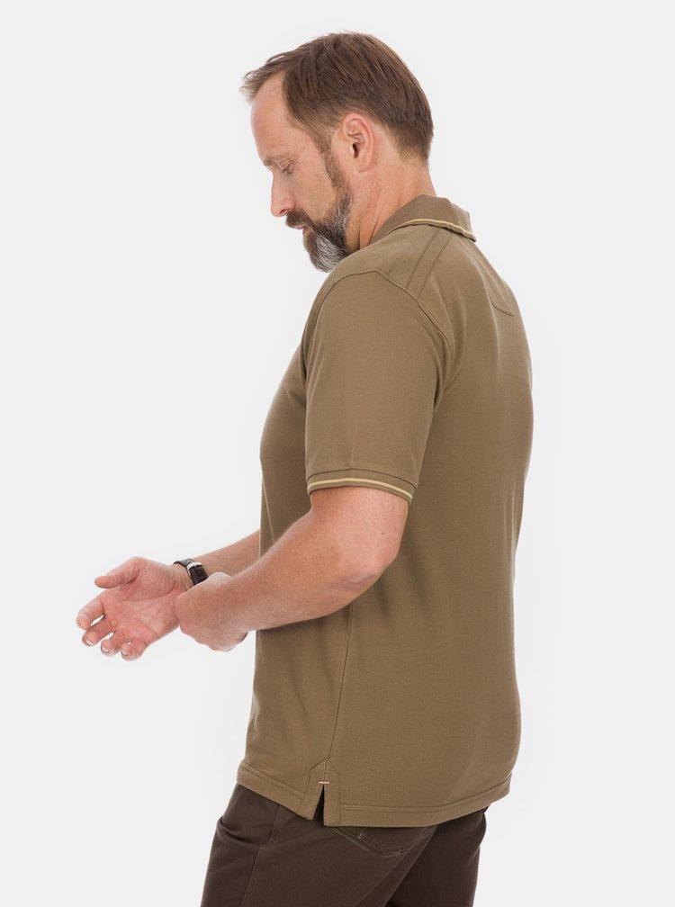 Hnědé pánské polo tričko BUSHMAN Cabot