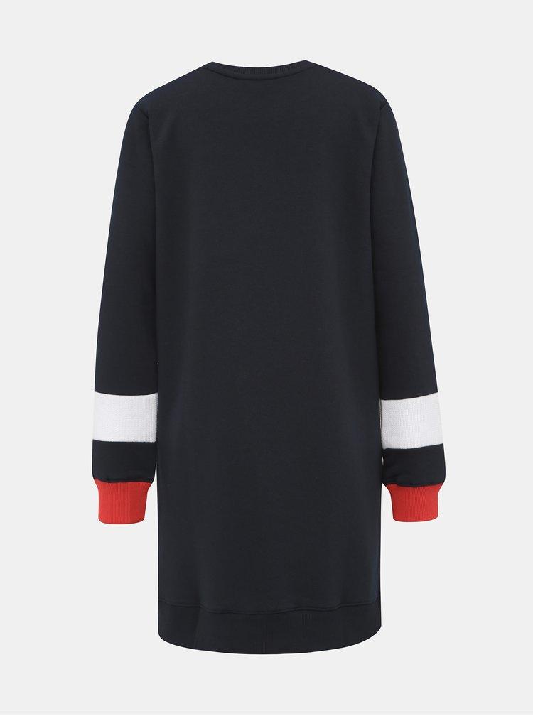 Tmavomodré mikinové šaty Tommy Hilfiger