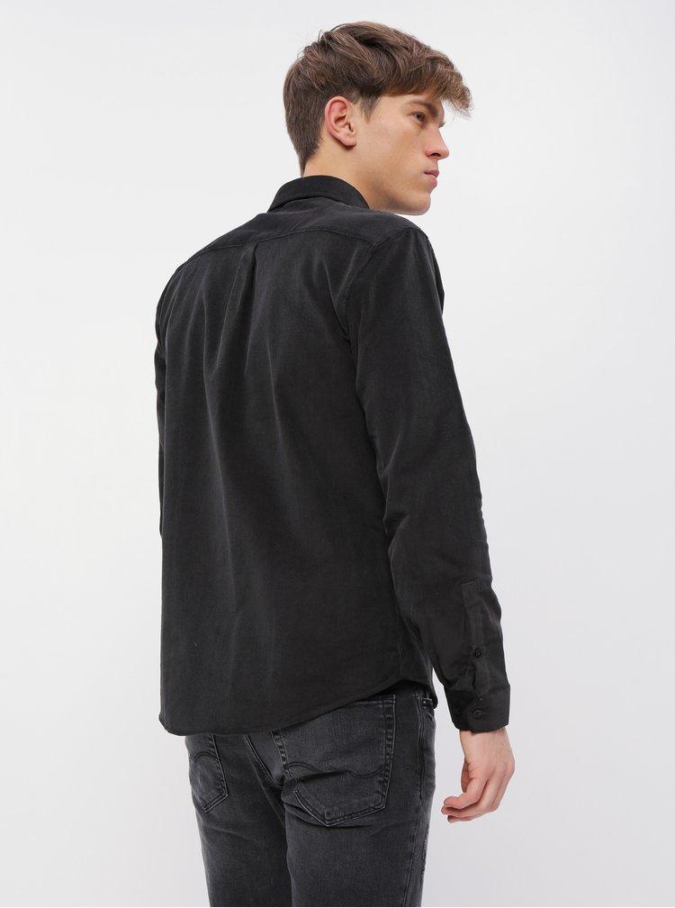 Černá manšestrová košile Shine Original