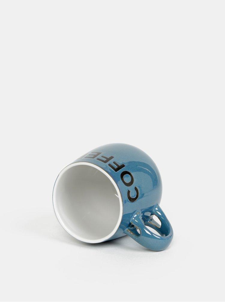Modrý hrnek s lžičkou CGB 400 ml