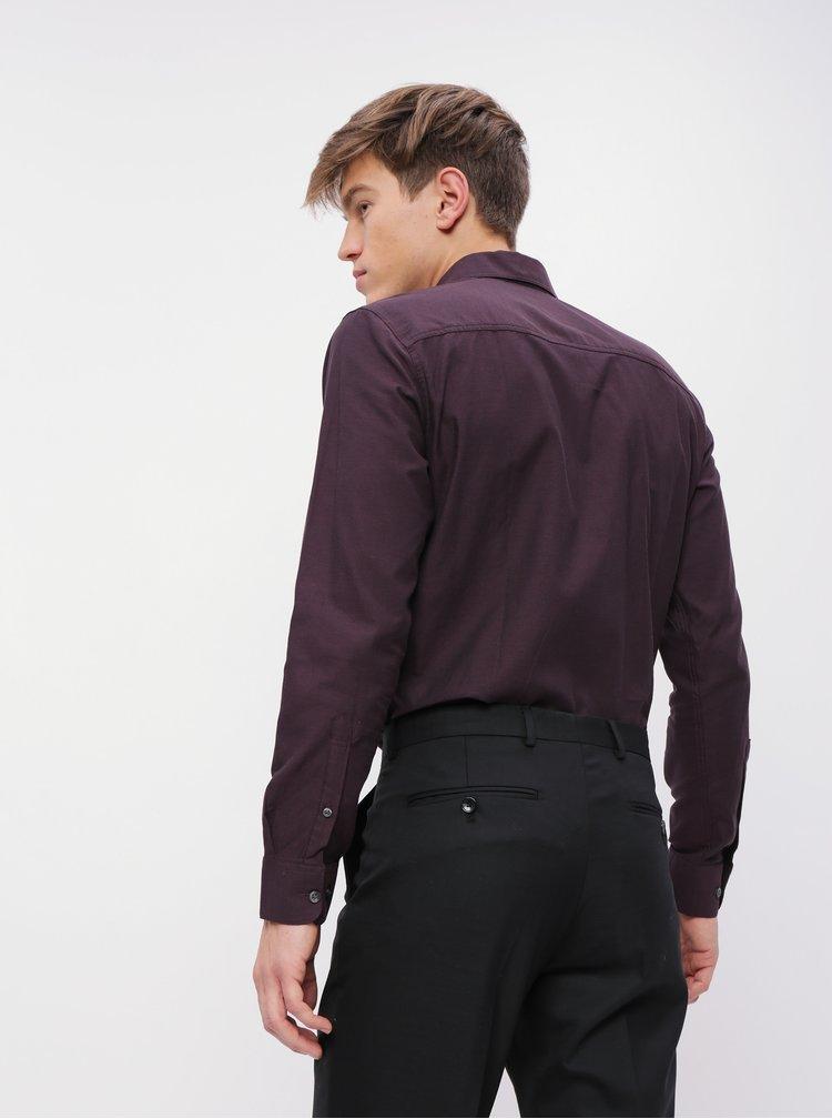 Fialová slim fit košeľa Selected Homme Freddie