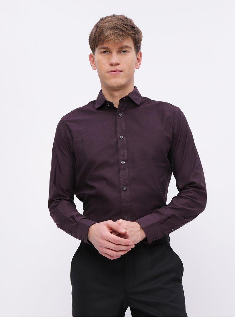 Fialová slim fit košile Selected Homme Freddie