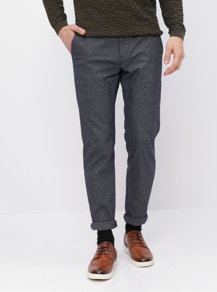 Tmavomodré chino nohavice Selected Homme Arval