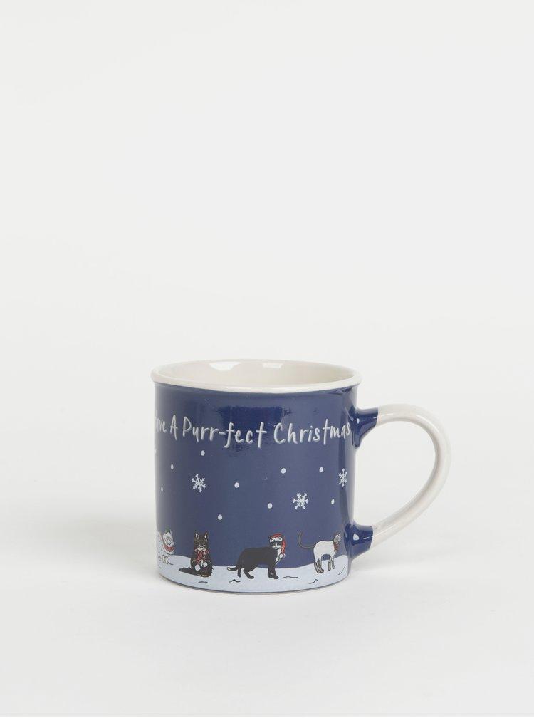 Tmavě modrý hrnek s vánočním motivem CGB 250 ml