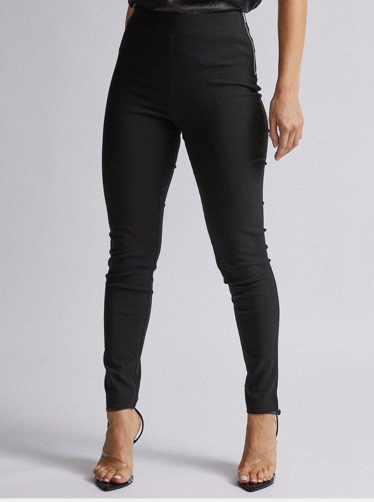 Černé skinny fit kalhoty Dorothy Perkins Petite