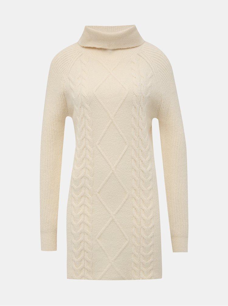 Krémové svetrové šaty s rolákem TALLY WEiJL Typa